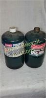 2 Coleman 1lb propane fuel tanks, new