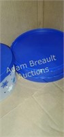 Assorted plastic storage and waste paper basket