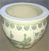 14 in porcelain floor planter