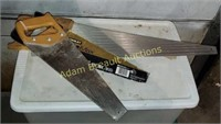 3 Crosscut hand saws