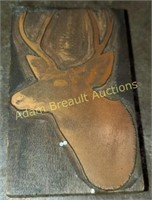 4 inch copper whitetail deer stamp