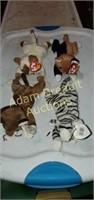 4 Ty Beanie Baby cats