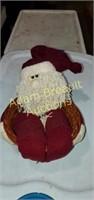 Christmas wicker basket, Santa Claus in a basket,