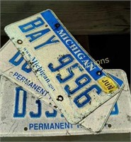 3 state of Michigan license plates