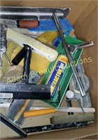 Box  lot - wall board and drywall tools, painting