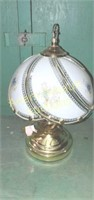 Polished brass 14 in touch lamp Cindy has