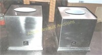 2 Palace Centric stainless metal tissue boxes