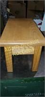 Solid oak footstool, 9 x 18 x 9