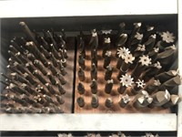 Lot with approx. (60) assorted end mills &