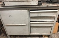 "20"" x 54"" industrial type cabinet w/craftsman vise"