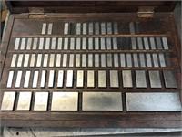 """Older set of gauge blocks, .100 thousands to 4"""","""