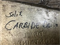"""Drill bit index of """"solid Carbide"""" drill bits to ½"""