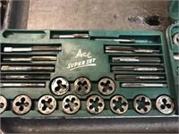 Ace super tap & die set, missing 1 die