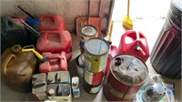 Lot of gas cans and extras