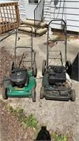 Lot of 2 mowers for parts or repair