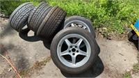Set of 4 tires and rims with extra 2 tires.