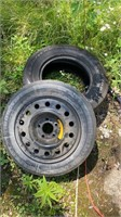 Spare donut tire and rim plus good year tire