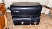 2 vintage leather Nikon camera bags
