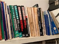 Lot of car repair manuals including Jaguar and