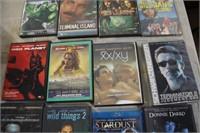 12 VARIOUS DVD'S