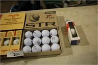 STR GOLLF BALLS - SPALDING GOLF BALLS & EXTRA BALL