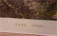 """Gone Away"" Hunting scene print"