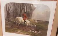 """Drawn Blank"" Hunting scene  print"
