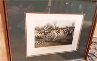 """""""full cry through the homestead"""" hunting print"""