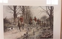 """The pink of condition""  Hunting scene print"