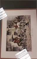 """""""After a good day"""" Hunting scene  print"""