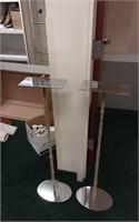 Tall metal displays