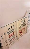 Advertiser signs