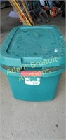 Sterilite 20 gallon green storage tote