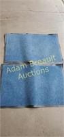 2 rubber backed door mats, 23 x 35