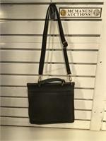 Coach Vintage Black Leather 'Stewardess' Bag -