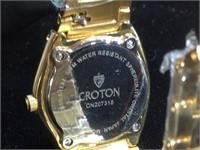 NIB Croton Lady's Crystal Dial Watch with Lizard