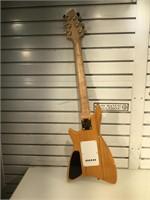 Custom made 6 string guitar with Koi decoration,