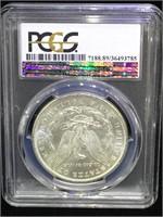 1889 Morgan Silver Dollar - PCGS BU - Stage Coach