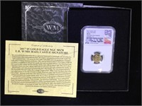 2017 $5 Gold Eagle NGC MS-70 signed by Michael