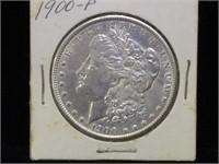 1900 Morgan Silver Dollar in flip