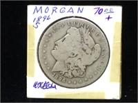 1896-S Morgan Silver Dollar in flip