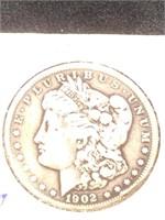 1902 Morgan Silver Dollar in flip
