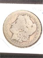 1886-O Morgan Silver Dollar in flip