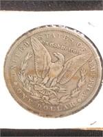 1883-O Morgan Silver Dollar in flip