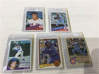 5 card baseball rookie lot