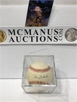 Stan Musial autographed baseball no COA