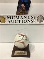 Nolan Ryan autographed baseball no COA