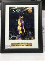 Kobe Bryant autographed 8x10 sports memory