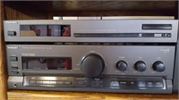 Vintage Technics stereo system with