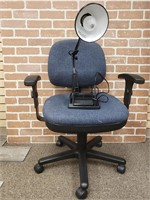 Desk Chair and Lamp
